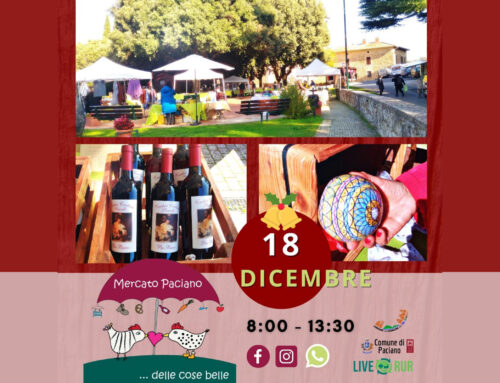 CHRISTMAS CRAFTS AND GREEN BUILDING AT THE WEEKLY MARKET OF PACIANO
